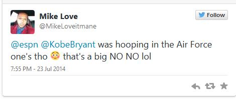 Kobe Bryant Hooping in Air Force  Ones